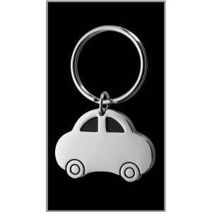 CAR autó formájú fém kulcstartó, ezüst