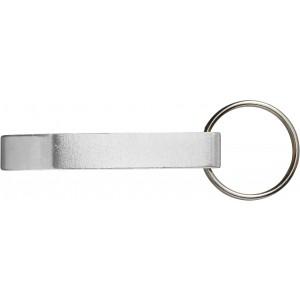 Alumínium üvegnyitó/kulcstartó, ezüst