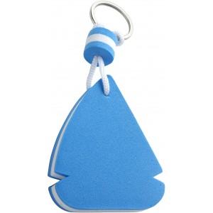Vitorlás alakú lebegő kulcstartó, EVA, kék/fehér