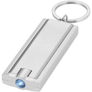 Castor világító kulcstartó, ezüst