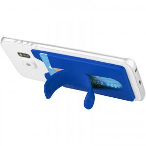 Szilikon kártyatartó állvánnyal, kék