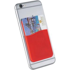 Slim szilikon kártyatartó, piros