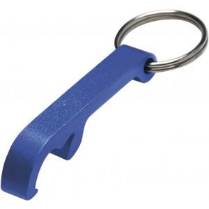 Alumínium üvegnyitó/kulcstartó, kék